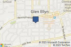 Bing Map of 435 Melrose Ave Glen Ellyn, IL 60137