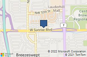 Bing Map of 4355 W Sunrise Blvd Plantation, FL 33313