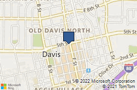 Bing Map of 437 F St Davis, CA 95616