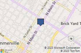 Bing Map of 437 N Main St Ste C Summerville, SC 29483