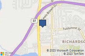 Bing Map of 4380 Sonoma Blvd Ste 142 Vallejo, CA 94589