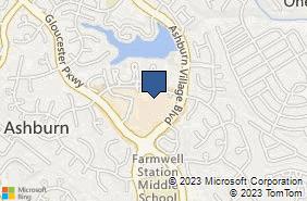 Bing Map of 44110 Ashburn Shopping Plaza Suite 216 Ashburn, VA 20147