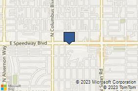 Bing Map of 4420 E Speedway Blvd Ste 102 Tucson, AZ 85712