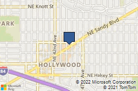Bing Map of 4421 Ne Sandy Blvd Portland, OR 97213