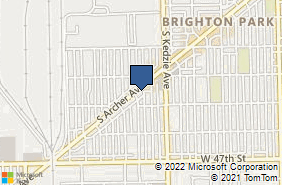 Bing Map of 4429 S Archer Ave Chicago, IL 60632