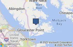Bing Map of 4435 Geo Wash Mem Hwy Hayes, VA 23072