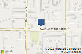 Bing Map of 445 Avenue Of The Cities East Moline, IL 61244