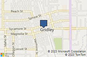 Bing Map of 445 Virginia St Gridley, CA 95948