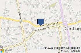 Bing Map of 447 W Panola St Carthage, TX 75633