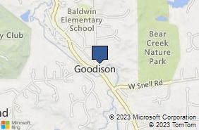 Bing Map of 4497 Collins Rd Rochester Hills, MI 48306