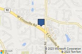 Bing Map of 45 W Crossville Rd Ste 504 Roswell, GA 30075