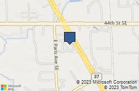 Bing Map of 4595 Broadmoor Ave Se Ste 170 Grand Rapids, MI 49512