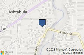 Bing Map of 4605 Main Ave Ashtabula, OH 44004