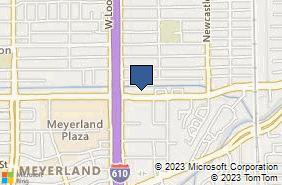 Bing Map of 4660 Beechnut St Ste 243 Houston, TX 77096