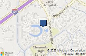 Bing Map of 4665 Sweetwater Blvd Ste 400 Sugar Land, TX 77479