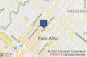Bing Map of 467 Hamilton Ave Ste 24 Palo Alto, CA 94301