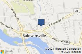Bing Map of 47 E Genesee St Baldwinsville, NY 13027