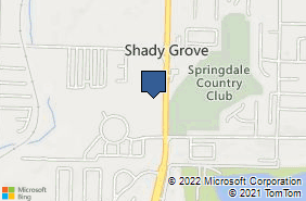Bing Map of 4700 S Thompson St Ste B105 Springdale, AR 72764