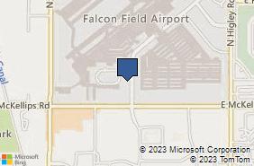 Bing Map of 4710 E Falcon Dr Ste 111 Mesa, AZ 85215