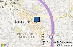 Bing Map of 472 Hartz Ave Danville, CA 94526