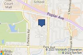 Bing Map of 4735 Spottswood Ave Ste 104 Memphis, TN 38117