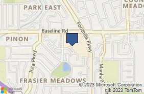 Bing Map of 4800 Baseline Rd Ste D200 Boulder, CO 80303