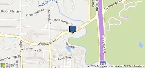 Bing Map of 4801 Woodway Dr Ste 300e Houston, TX 77056