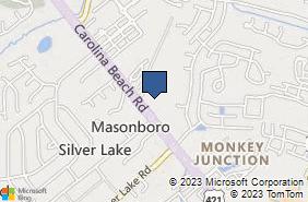 Bing Map of 4837 Carolina Beach Rd Ste 101 Wilmington, NC 28412