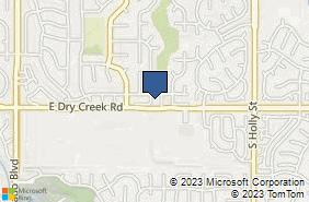 Bing Map of 4901 E Dry Creek Rd Ste 214 Centennial, CO 80122