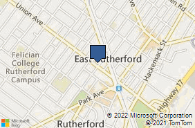 Bing Map of 50 Union Ave Rutherford, NJ 07070