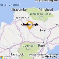 Bing Map of 50.9140,-3.8694
