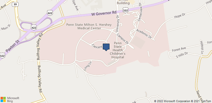 500 University Dr Hershey, PA, 17033 Map
