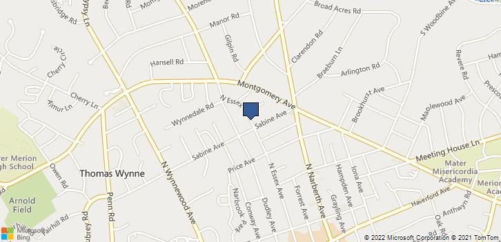 501 N Essex Ave Narberth, PA, 19072 Map
