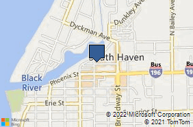 Bing Map of 501 Quaker St South Haven, MI 49090