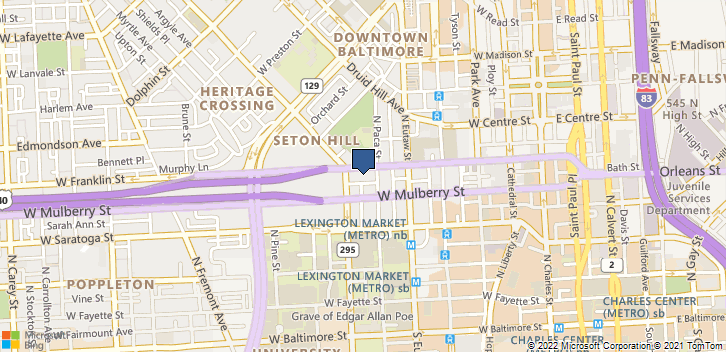 501 W Franklin St Baltimore, MD, 21201 Map