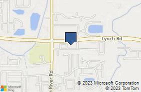 Bing Map of 5010 Davis Lant Dr Ste 3 Evansville, IN 47715