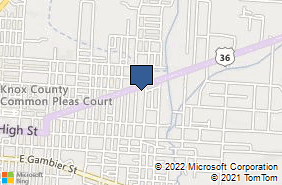 Bing Map of 502 Coshocton Ave Mount Vernon, OH 43050