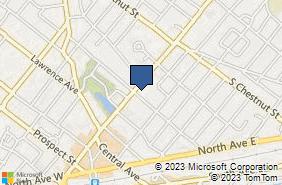 Bing Map of 502 E Broad St Westfield, NJ 07090