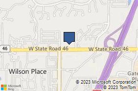 Bing Map of 5030 W State Road 46 Ste 1000 Sanford, FL 32771