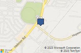 Bing Map of 506 Hebron Rd Heath, OH 43056