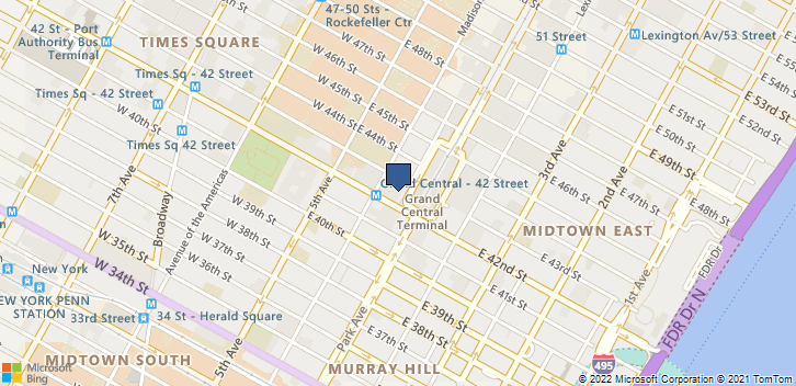 51 E 42nd St New York, NY, 10017 Map