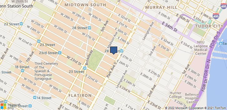 51 East 26th Street, Ste 412 New York, NY, 10010 Map