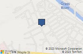 Bing Map of 51 Stoughton Ave Massena, NY 13662