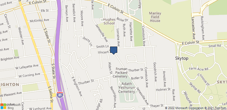 510 Jamesville Ave Syracuse, NY, 13210 Map