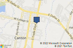 Bing Map of 510 S Trade Days Blvd Canton, TX 75103