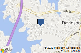 Bing Map of 511 Jetton St Davidson, NC 28036