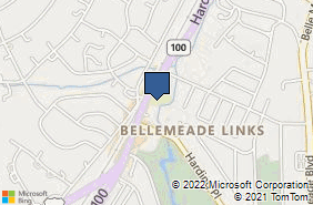 Bing Map of 5133 Harding Pike Ste A10 Nashville, TN 37205