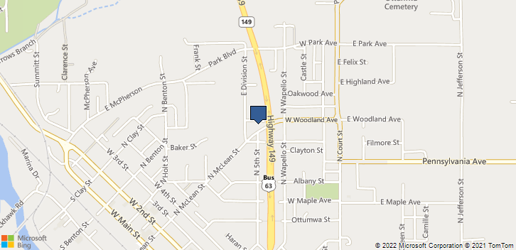514 West Woodland Ottumwa, IA, 52501 Map