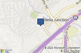 Bing Map of 5140 Bus Center Dr Ste 140 Fairfield, CA 94534