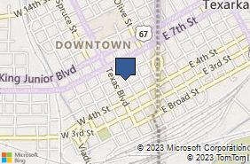 Bing Map of 515 Main St Texarkana, TX 75501